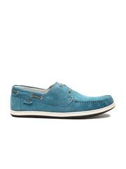 GAS Men Blue Suede Preppy Boat Shoes