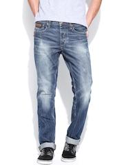 Jack & Jones Men Blue Clark Fit Jeans