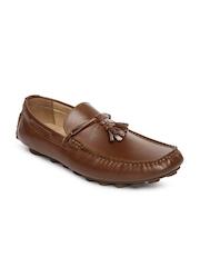 Steve Madden Men Dark Brown Highhbal Leather Loafers