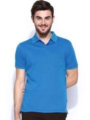 Indian Terrain Men Blue Polo T-shirt