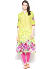 Shree Women Yellow Printed Kurta
