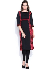 Shree Women Black Printed Kurta