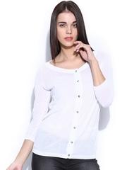 GAS Women White Sun-Li Woven Top