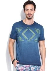 Ed Hardy Blue Printed T-shirt