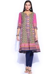 Rangmanch by Pantaloons Women Multicoloured Printed Anarkali Kurta