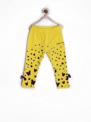 Republic of Spiel Girls Yellow Printed Leggings
