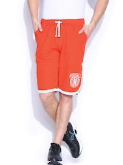 Men Orange Shorts Russell Athletic