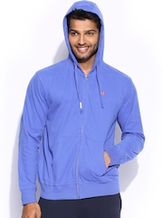 Russell Athletic Men Blue Hooded Sweatshirt