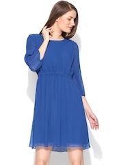 Vero Moda Blue Fit & Flare Dress