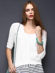 SELA Women White Cardigan