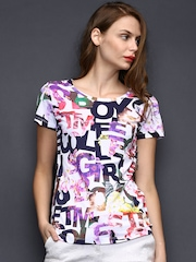 SELA Women Multicoloured Printed Top