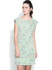 United Colors of Benetton Mint Green Floral Print Shift Dress
