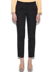 United Colors of Benetton Women Black Cropped Trousers