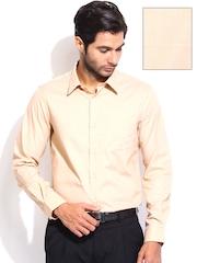 Arrow Men Beige Slim Fit Formal Shirt