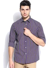 Arrow Sport Men Purple & Yellow Checked Hudson Semi-Slim Fit Casual Shirt