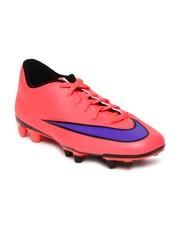 Nike Men Coral Pink Mercurial Vortex II FG Football Shoes