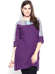 Aurelia Women Purple Kurta