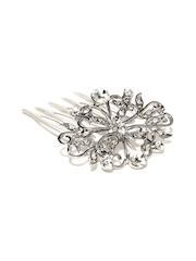 Addons Silver-Toned Hair Comb Clip