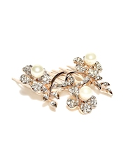 Addons Rose Gold-Toned Hair Comb Clip