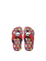 Keymon Ache Kids Red Printed Flip-Flops