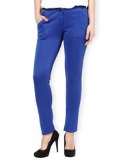 Women Blue Skinny Fit Formal Trousers Kaaryah