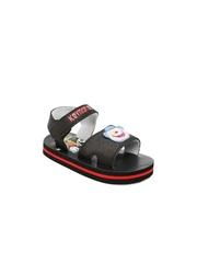 Keymon Ache Kids Black Printed Sandals