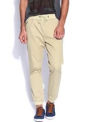 Locomotive Men Beige Youth Slim Fit Trousers