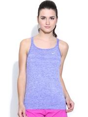 Nike Women Purple Tank Top