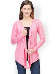 Color Cocktail Pink Printed Shrug