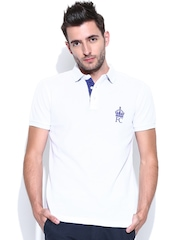 French Connection Men White Polo T-shirt