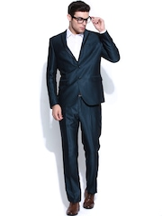 Blackberrys Men Blue Slim Fit Partywear Suit
