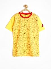 Angry Birds Boys Yellow Printed T-shirt