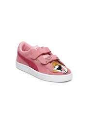 PUMA Kids Pink Suede T&J Tom V Casual Shoes