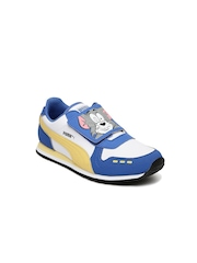 PUMA Kids Blue & White Cabana Racer Tom & Jerry Casual Shoes