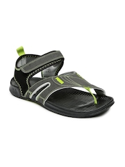 PUMA Unisex Grey & Black Jiff 5 Sports Sandals