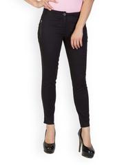 Rider Republic Women Black Slim Fit Trousers
