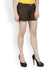 Rider Republic Women Brown Shorts