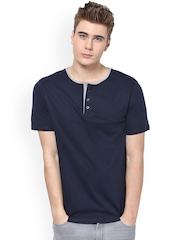 TshirtCompany Men Navy Henley T-shirt