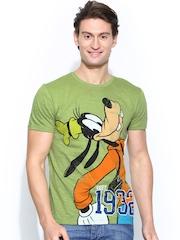 Disney Men Green Printed T-shirt