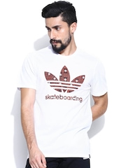 Adidas Originals Men White ADV 2 FILL T T-shirt