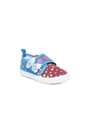 Kittens Girls Red & Blue Casual Shoes