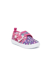 Kittens Girls Purple & Pink Casual Shoes