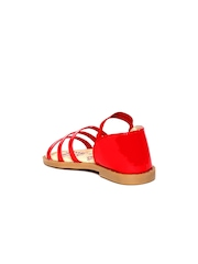 Kittens Girls Red Glossy Sandals