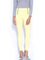 Miss Chase Yellow Retro High Waist Jeggings