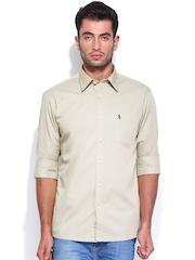 Burnt Umber Men Grey Slim Fit Casual Shirt