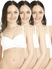 Tweens Pack of 3 White T-shirt Bras TW-101-3P-WH