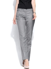 Will Lifestyle Women Grey Formal Trousers