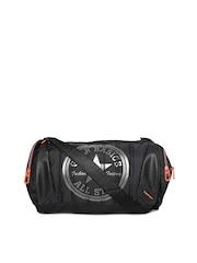 Gear Unisex Black Printed Duffle Bag