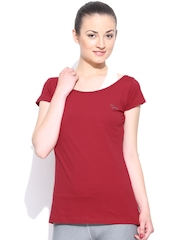 Lovable Sports Red Top with Attached Sports Bra