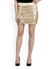 Pab Jules Gold-Toned Sequinned Pencil Skirt